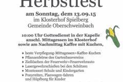 Ankündigung Herbstfest 2015