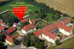erste standesamtl. trauung im klosterhof